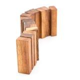 Blocchi di legno isolati su fondo bianco Fotografia Stock