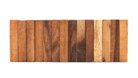 Blocchi di legno isolati su fondo bianco Immagine Stock Libera da Diritti