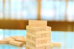 Blocchi di legno sistemati in un mucchio Fotografie Stock Libere da Diritti