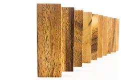 Blocchi di legno sistemati in una fila Immagine Stock Libera da Diritti