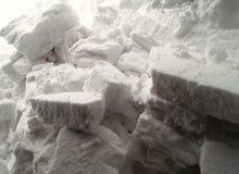 Blocchi di neve Fotografia Stock