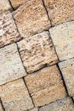 blocchi di primo piano dell'arenaria come struttura del fondo Copi lo spazio Fotografia Stock Libera da Diritti