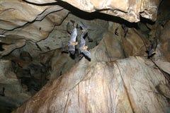 Blocchi di volo in caverna Immagini Stock