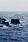 Blocchi nel mare Fotografia Stock