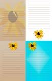 Blocchi note del girasole - un insieme di 4 fotografia stock