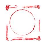 Blocchi per grafici acrilici dipinti a mano illustrazione di stock