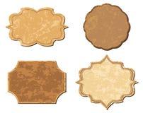 Blocchi per grafici beige dell'annata - insieme Immagine Stock