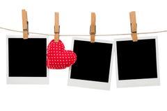 Blocchi per grafici in bianco della foto della polaroid Immagini Stock