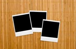Blocchi per grafici in bianco della foto su bambù Immagini Stock