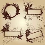 Blocchi per grafici con i fogli di autunno. Ringraziamento Fotografia Stock