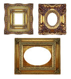Blocchi per grafici decorati dell'oro dell'annata Fotografia Stock Libera da Diritti