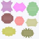 Blocchi per grafici decorativi impostati Immagini Stock