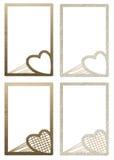 Blocchi per grafici del biglietto di S. Valentino del cartone per le foto Fotografia Stock Libera da Diritti