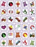 Blocchi per grafici del giocattolo Fotografia Stock Libera da Diritti