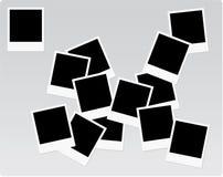 Blocchi per grafici del Polaroid su un mucchio Fotografie Stock Libere da Diritti