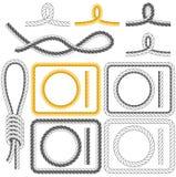 Blocchi per grafici della corda, quattro stili Fotografia Stock