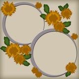 Blocchi per grafici della foto con i fiori Fotografie Stock Libere da Diritti