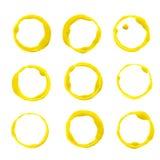 Blocchi per grafici della vernice acrilica impostati illustrazione vettoriale