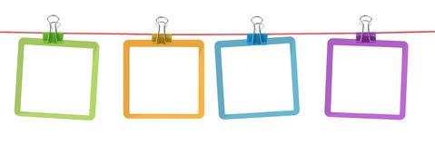 Blocchi per grafici di colore sulla corda Fotografia Stock