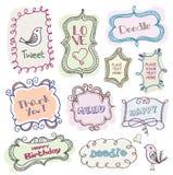 Blocchi per grafici di Doodles Immagini Stock