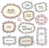 Blocchi per grafici di Doodles Fotografie Stock