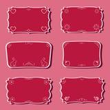 Blocchi per grafici di femminilità impostati. Fotografia Stock