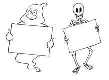 Blocchi per grafici di Halloween Fotografia Stock Libera da Diritti