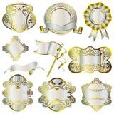 Blocchi per grafici di lusso dell'argento e dell'oro impostati Immagini Stock