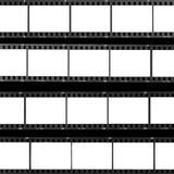 Blocchi per grafici di pellicola dello spazio in bianco dello strato del contatto Fotografia Stock Libera da Diritti