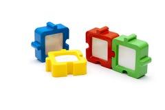 Blocchi per grafici di puzzle Fotografia Stock Libera da Diritti