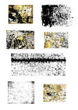 Blocchi per grafici differenti in balck ed oro   fotografia stock libera da diritti