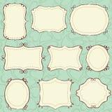 Blocchi per grafici disegnati a mano immagini stock