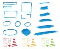 Blocchi per grafici disegnati a mano Fotografia Stock
