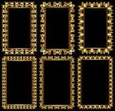 Blocchi per grafici dorati Fotografia Stock