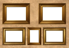 Blocchi per grafici dorati dell'oggetto d'antiquariato Fotografia Stock Libera da Diritti