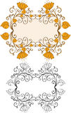 Blocchi per grafici floreali astratti Immagine Stock