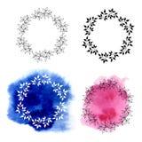 Blocchi per grafici floreali decorativi Illustrazione Vettoriale