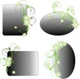 Blocchi per grafici floreali di disegno Fotografie Stock Libere da Diritti