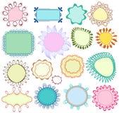 Blocchi per grafici floreali impostati Immagini Stock