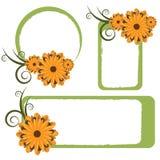 Blocchi per grafici floreali - vettore Fotografia Stock