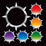 Blocchi per grafici multipli del metallo di colore Fotografia Stock