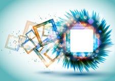 Blocchi per grafici quadrati lucidi astratti Immagine Stock Libera da Diritti