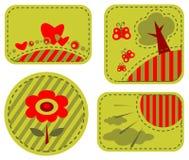 Blocchi per grafici romantici verdi Fotografia Stock