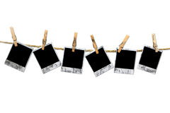 Blocchi per grafici sporchi del Polaroid dell'annata di Grunge Fotografia Stock Libera da Diritti