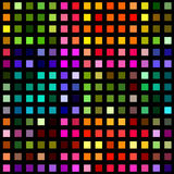 Blocchi quadrati multicolori sul nero Fotografia Stock