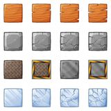 Blocchi quadrati per il gioco 1 di fisica Fotografia Stock Libera da Diritti
