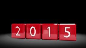 Blocchi rossi che cambiano dal 2014 al 2015 illustrazione di stock