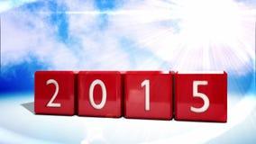 Blocchi rossi che cambiano dal 2014 al 2015 archivi video