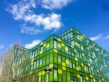 Blocchi verdi e gialli sotto cielo blu Immagine Stock Libera da Diritti