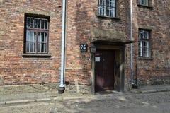 Blocco 24 a Auschwitz Fotografia Stock Libera da Diritti